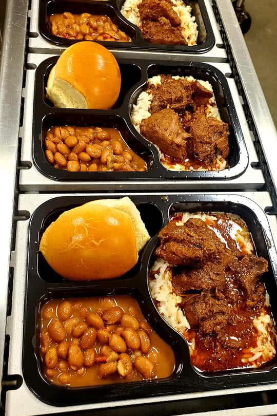 Dupre Express BBQ and beans