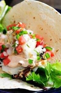 Fish tacos at the Market Restaurant