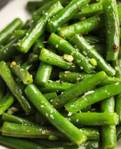 Green beans at the Market Restaurant