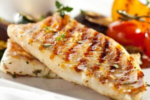 Grilled fish at the Market Restaurant