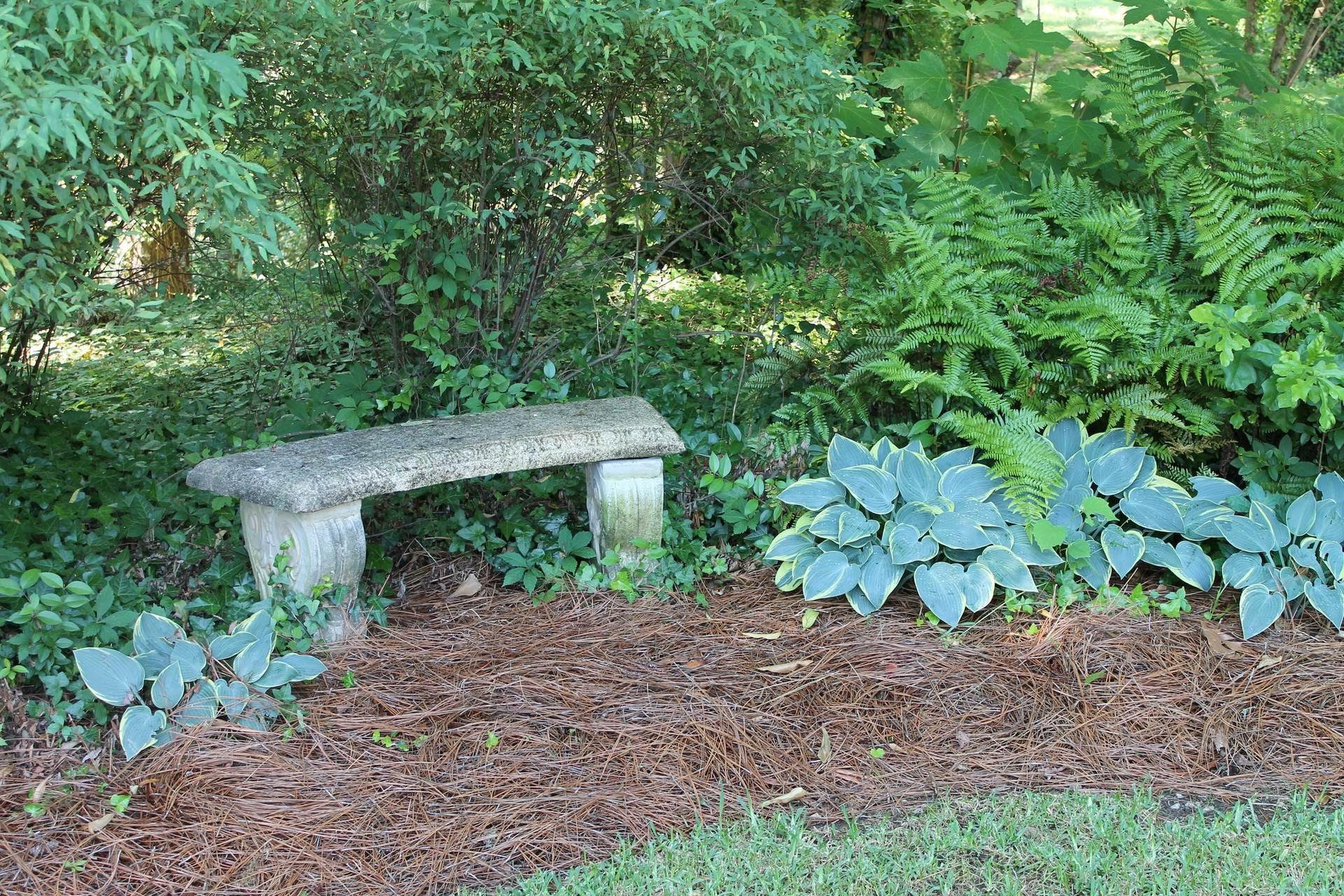 The Hall Wedding Garden bench