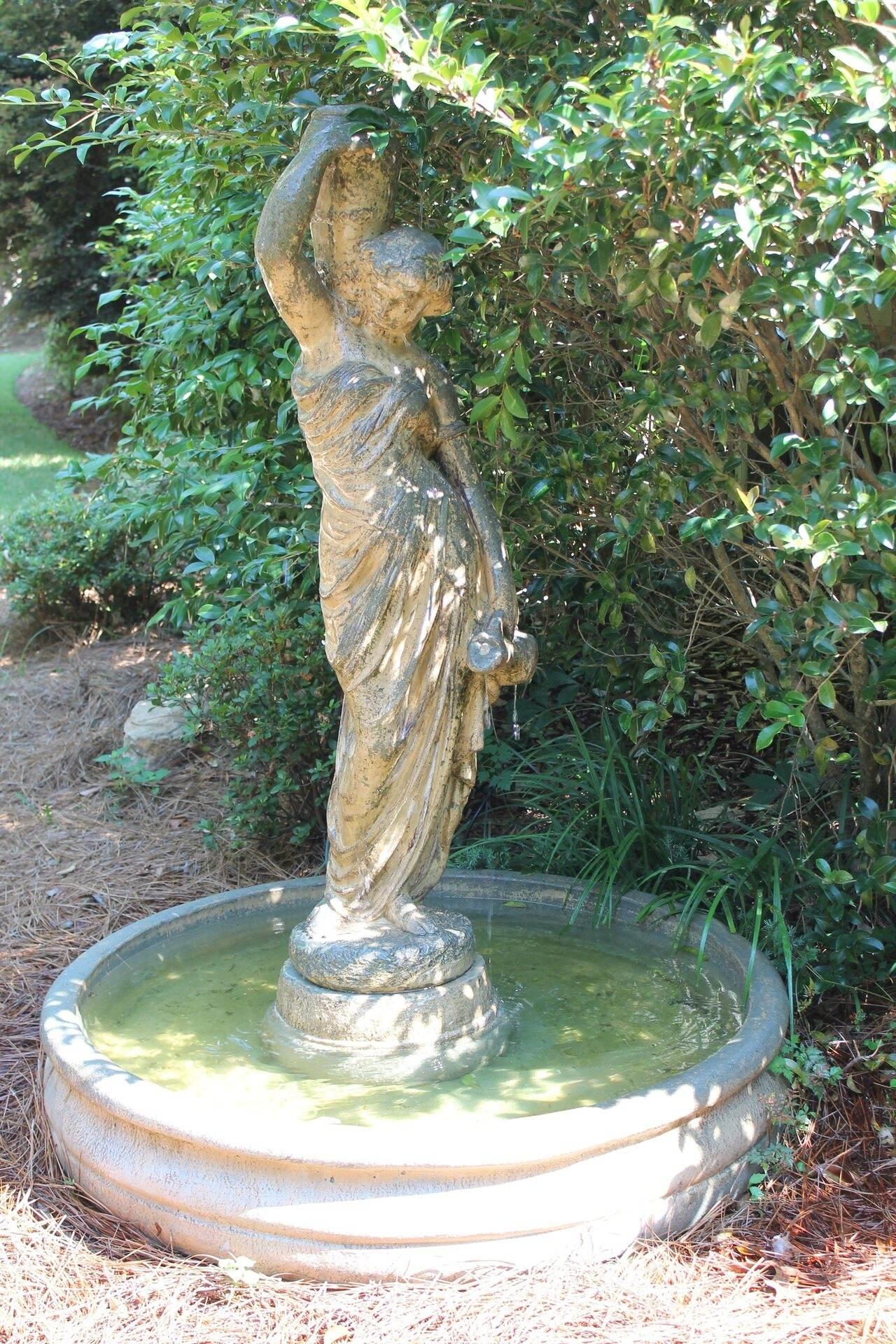The Hall Wedding Garden fountain statue