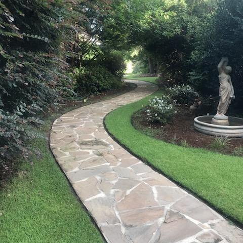 The Hall Wedding Garden pathway