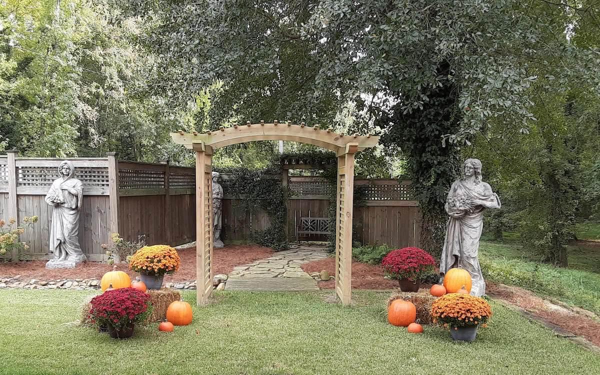 The Sterling Wedding Garden Arbor Columbia SC