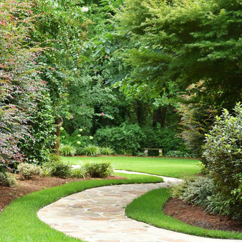 path to the Hall wedding garden